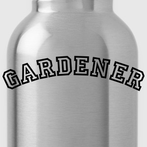 gardener curved college style logo - Water Bottle