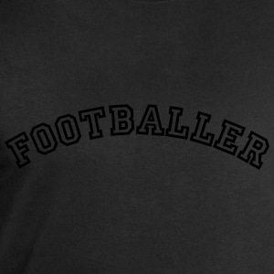 footballer curved college style logo - Men's Sweatshirt by Stanley & Stella