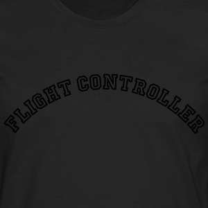 flight controller curved college style l - Men's Premium Longsleeve Shirt