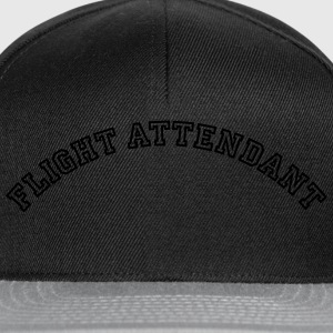 flight attendant curved college style lo - Snapback Cap