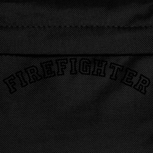 firefighter curved college style logo - Kids' Backpack