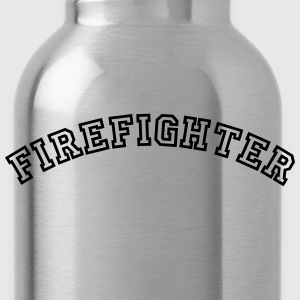 firefighter curved college style logo - Water Bottle