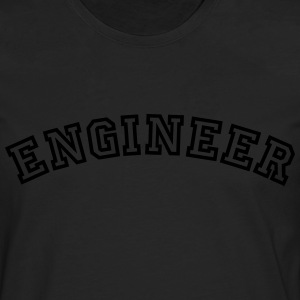 engineer curved college style logo - Men's Premium Longsleeve Shirt