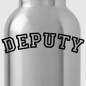 deputy curved college style logo - Water Bottle