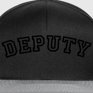 deputy curved college style logo - Snapback Cap