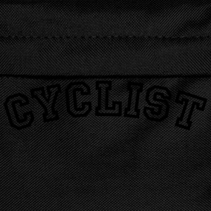 cyclist curved college style logo - Kinder Rucksack