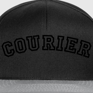 courier curved college style logo - Snapback Cap