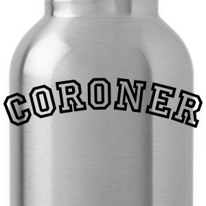 coroner curved college style logo - Water Bottle