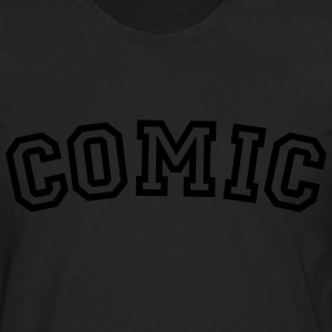 comic curved college style logo - Men's Premium Longsleeve Shirt