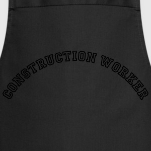 construction worker curved college style - Kochschürze
