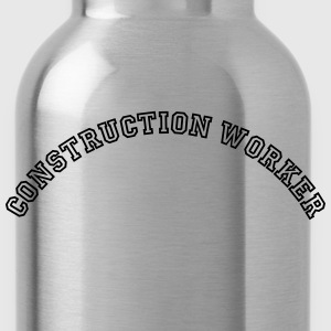 construction worker curved college style - Water Bottle