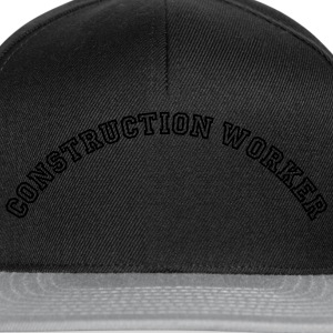 construction worker curved college style - Snapback Cap