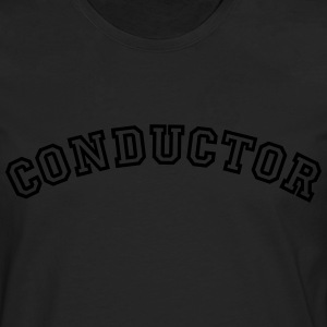 conductor curved college style logo - Männer Premium Langarmshirt