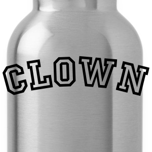 clown curved college style logo - Water Bottle