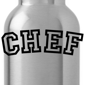 chef curved college style logo - Water Bottle
