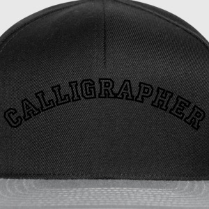 calligrapher curved college style logo - Snapback Cap