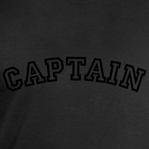 captain curved college style logo - Men's Sweatshirt by Stanley & Stella
