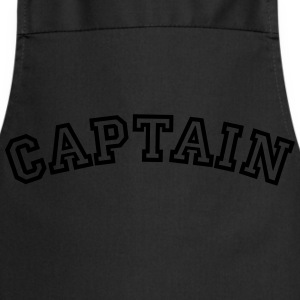captain curved college style logo - Cooking Apron