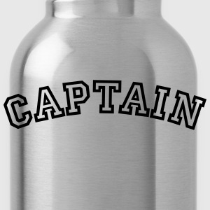captain curved college style logo - Water Bottle