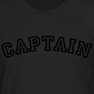 captain curved college style logo - Men's Premium Longsleeve Shirt