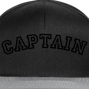 captain curved college style logo - Snapback Cap