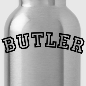 butler curved college style logo - Water Bottle