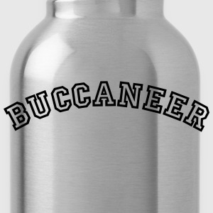 buccaneer curved college style logo - Water Bottle
