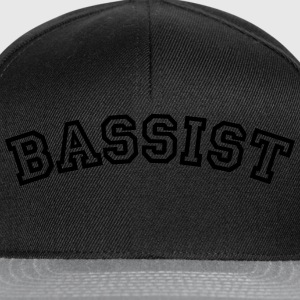 bassist curved college style logo - Snapback Cap