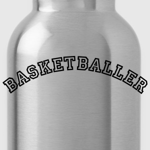 basketballer curved college style logo - Water Bottle