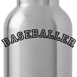 baseballer curved college style logo - Water Bottle