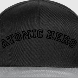 atomic hero curved college style logo - Snapback Cap