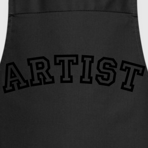 artist curved college style logo - Cooking Apron