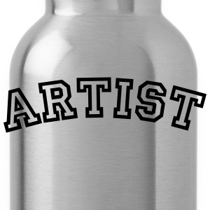 artist curved college style logo - Water Bottle