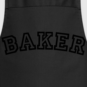 baker curved college style logo - Cooking Apron