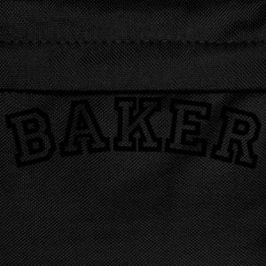 baker curved college style logo - Kids' Backpack