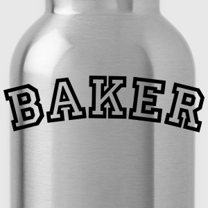 baker curved college style logo - Water Bottle