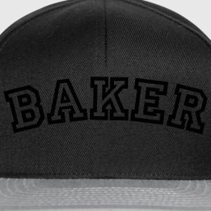 baker curved college style logo - Snapback Cap