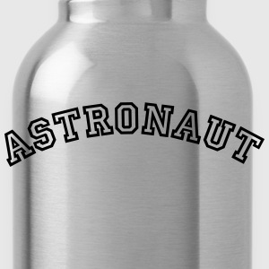 astronaut curved college style logo - Water Bottle