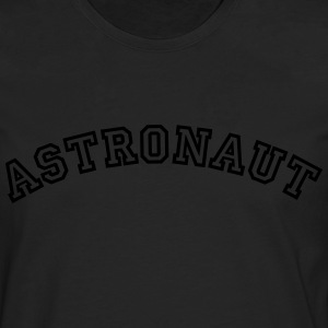 astronaut curved college style logo - Men's Premium Longsleeve Shirt