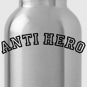 anti hero curved college style logo - Water Bottle