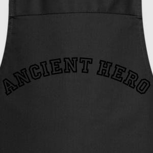 ancient hero curved college logo - Cooking Apron