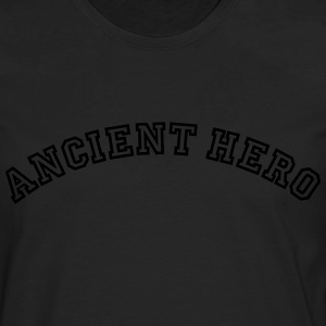 ancient hero curved college logo - Men's Premium Longsleeve Shirt