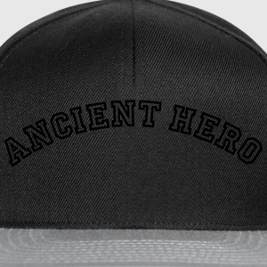 ancient hero curved college logo - Snapback Cap