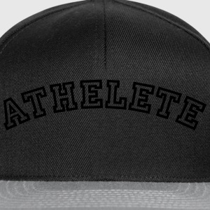 athelete curved college style logo - Snapback Cap