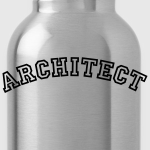 architect curved college style logo - Water Bottle