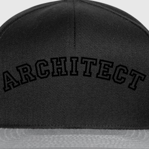 architect curved college style logo - Snapback Cap