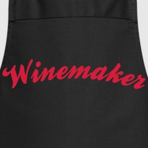 winemaker cool curved logo - Kochschürze