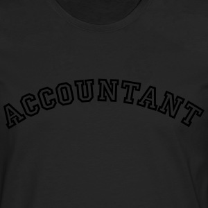 accountant curved college logo - Men's Premium Longsleeve Shirt