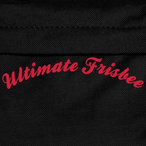 ultimate frisbee cool curved logo - Kinder Rucksack