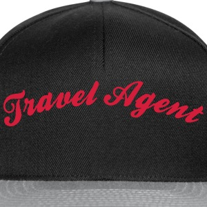 travel agent cool curved logo - Snapback Cap